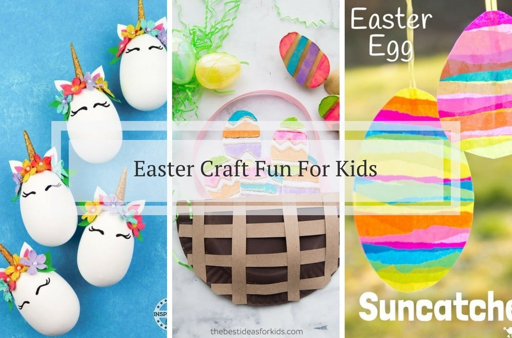 Easter Egg craft fun for kids, toddlers, pre-schoolers using potato prints, paper, tissue paper, real eggs and more. Easy to make Easter crafts for kids #Easter #Easter #EasterCrafts #EasterEggs #KidsCraft #KidsActivities