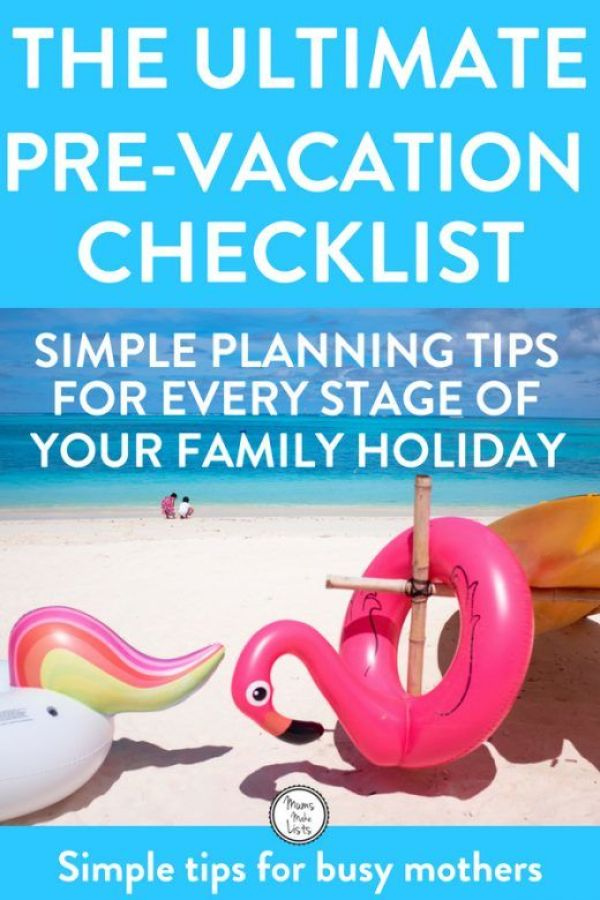 A super useful family holiday checklist to take the stress out of planning and organising a family holiday or vacation. Our step-by-step family vacation checklist is choc full of simple tips to make organising a family holiday easier. #familyvacation #familytravel #familyholiday #familypacking #packing #packinglist #packingtips #vacay #vacation #vacationtips #traveltips #family #organisation #organization #personalorganisation #familyorganisation #familyorganization #Organisation #Organization #OrganizationTips #OrganizationIdeas
