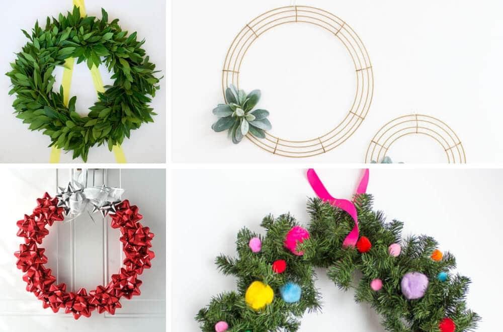 Easy Beautiful DIY Christmas Wreath Tutorials