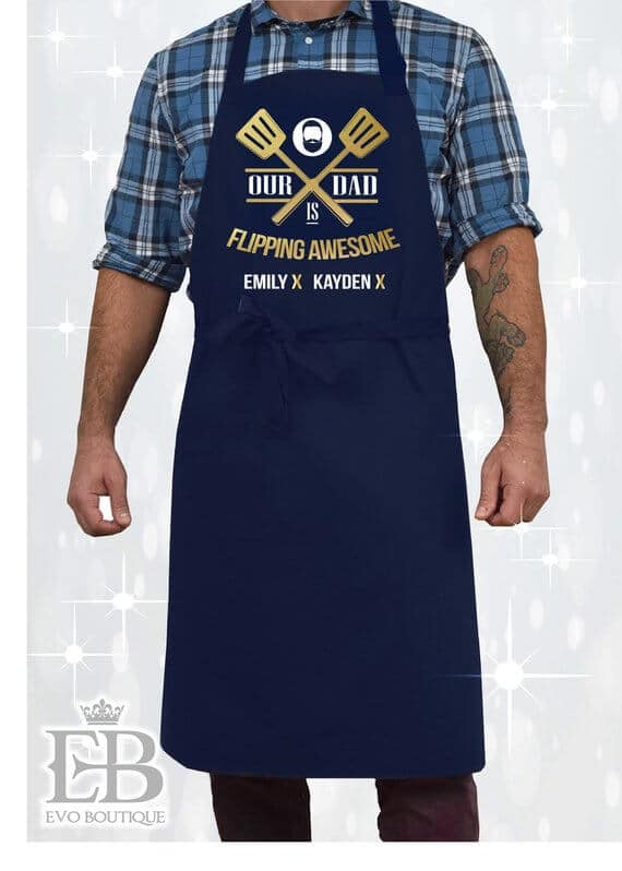 Etsy gifts for him personalised apron #Etsy #EtsyFinds #Christmas #ChristmasGift #GiftsForHim
