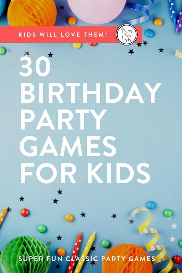 Kids party games, party games for kids, children's party games
