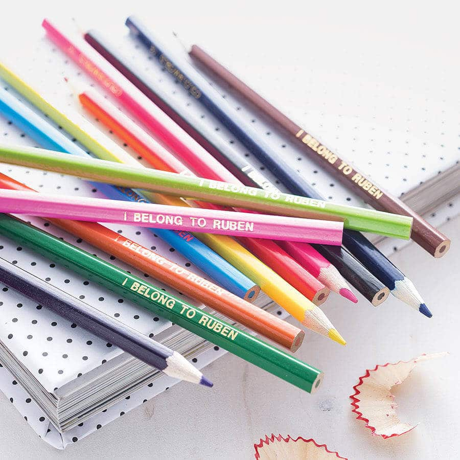 Personalised colouring pencils, Stocking filler gift ideas, stocking filler gift ideas for kids
