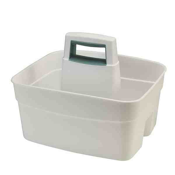 Mrs Hinch style cleaning caddy, white cleaning caddy with handles, Lakeland white cleaning caddy, organisation hack
