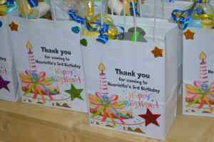 PERSONALISED SWEETIE PARTY BAGS