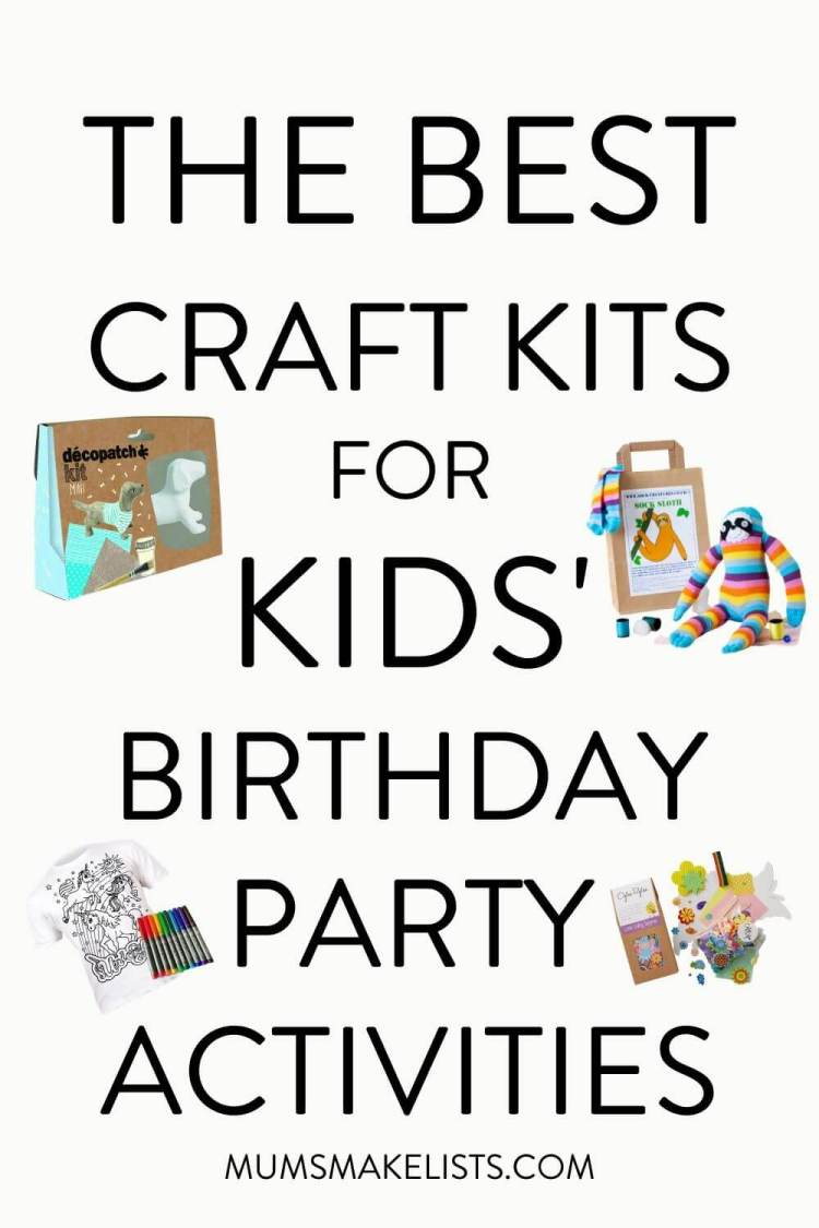 Best craft kits for kids' parties, kids craft kits, craft kits for kids, kids' craft party ideas, kids craft party activities