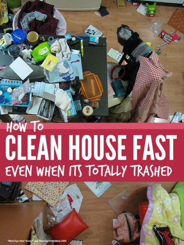 Clean house fast