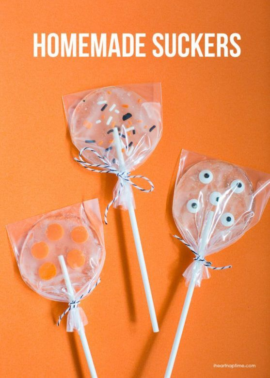 Halloween party food ... easy Halloween lollies from I Heart Naptime