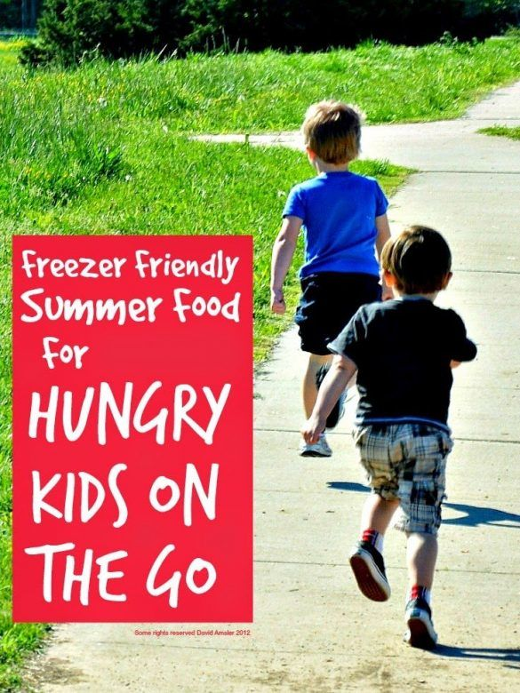 Freezer friendly summer food for kids on the go ... easy picnic food you can bulk cook for the freezer