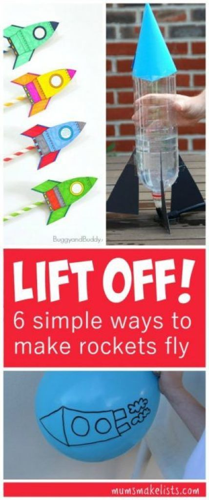 Rockets - 6 simple fun experiments that let even small children explore the forces that launch rockets, STEM Activity for Kids: How to make rockets fly. This is a roundup of fun ideas for science lessons, home play ideas or outdoor play activity #STEM #OutdoorPlay #KidsActivites #ScienceforKids