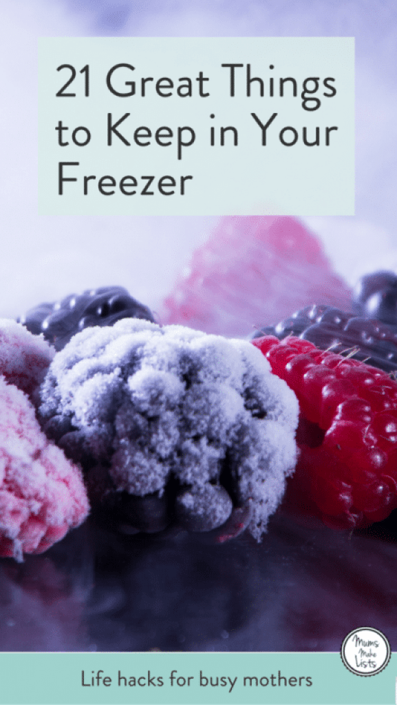 21 things to keep in your freezer