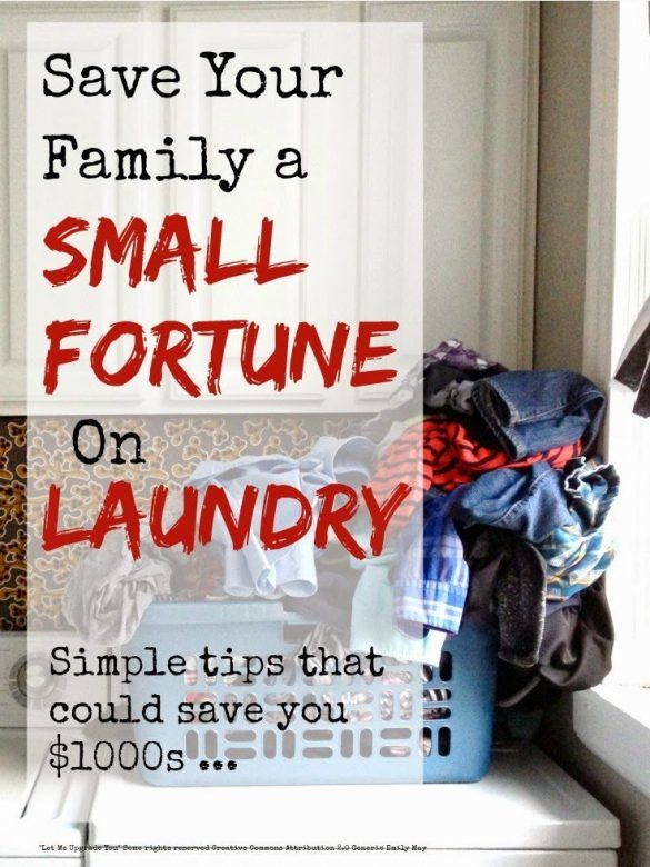 Save money on laundry - how to save your family a small fortune on laundry ... believe me when you add it all up you are spending serious amounts on washing the family's clothes