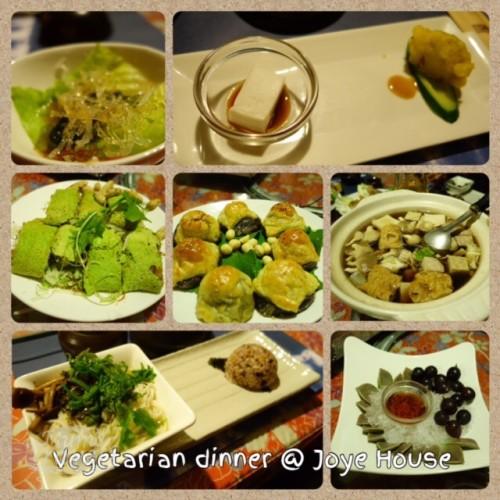 Our vegeterian set dinner @ Joye House