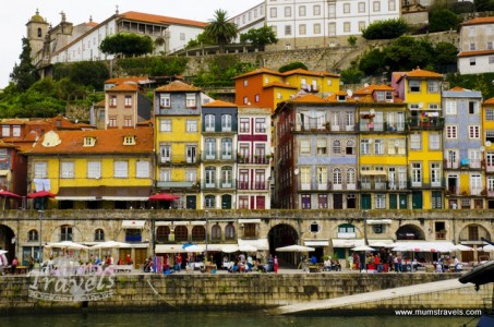 Beautiful city of Porto. Photo taken from across the river at Gaia