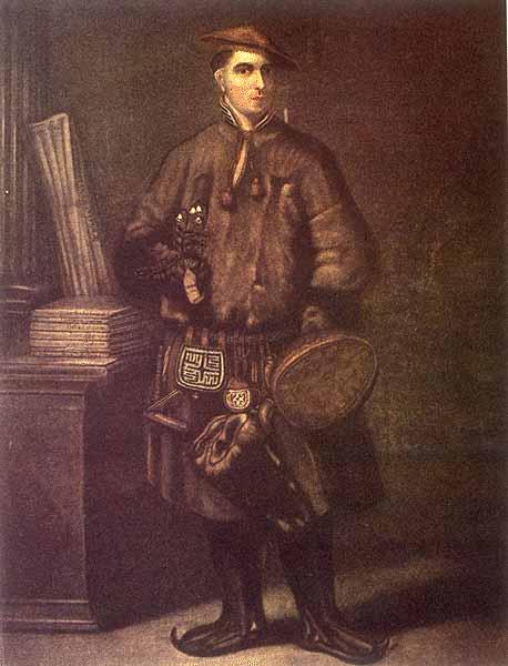 Linnaeus dressed in Lapp costume