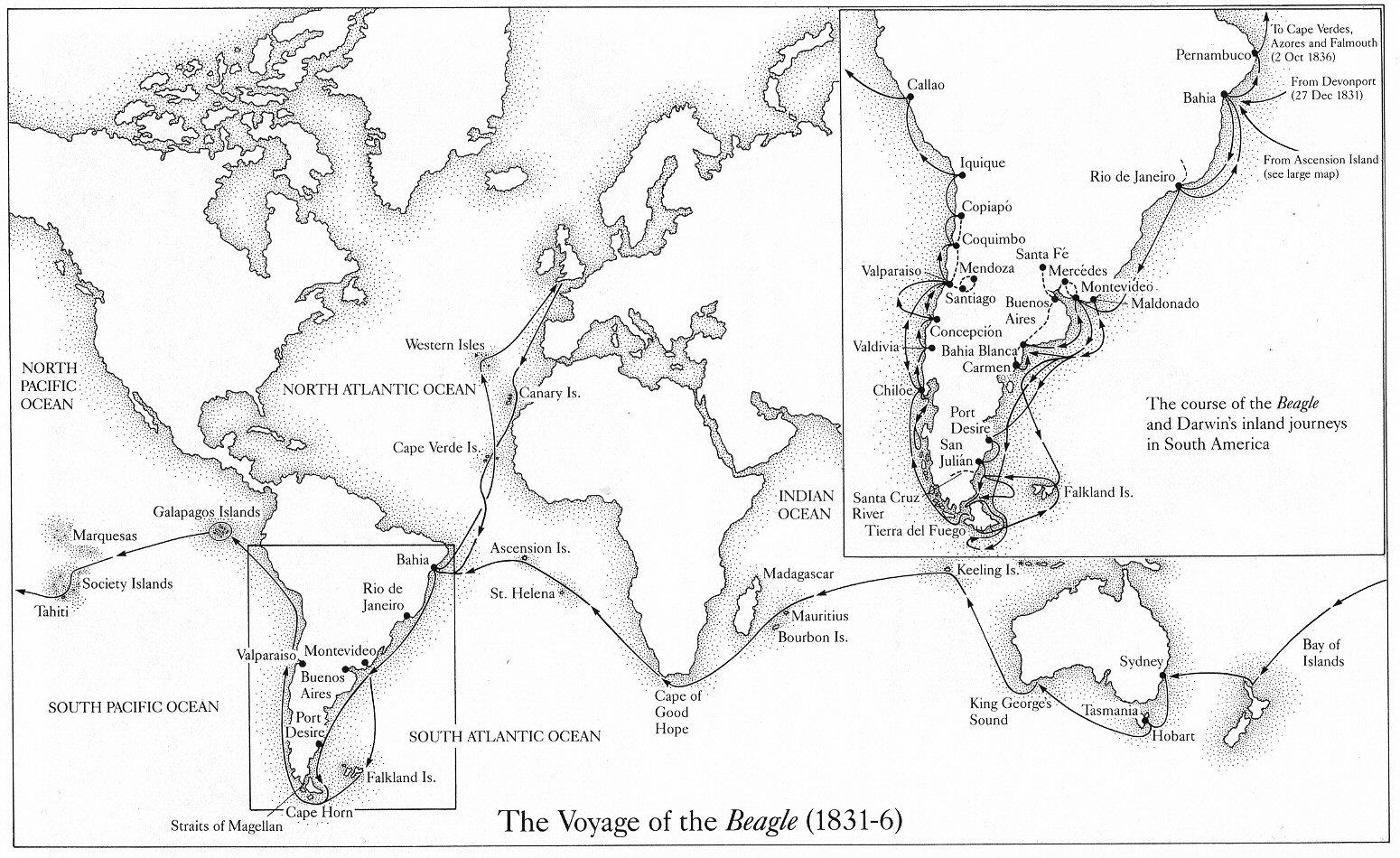Geschiedenieuws: Charles Darwin in Brazilië