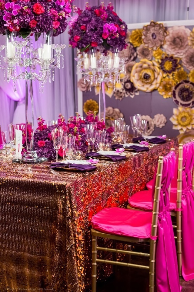 Vibrant Purple and Gold Wedding Inspired Styled Shoot by