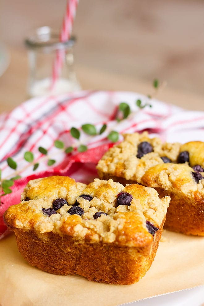 Easy Mini Blueberry Coffee Cake Loaves Recipe Munaty Cooking