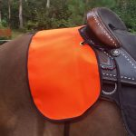 Be Seen Croup Covers Attach Behind Your Saddle Cantle