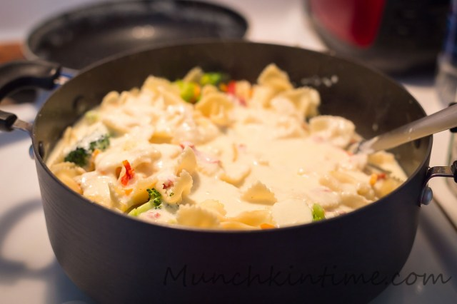 Best New 30-Minutes Bow Tie Pasta Alfredo and Veggies