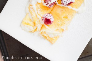 Crepes with Delicious White Cream