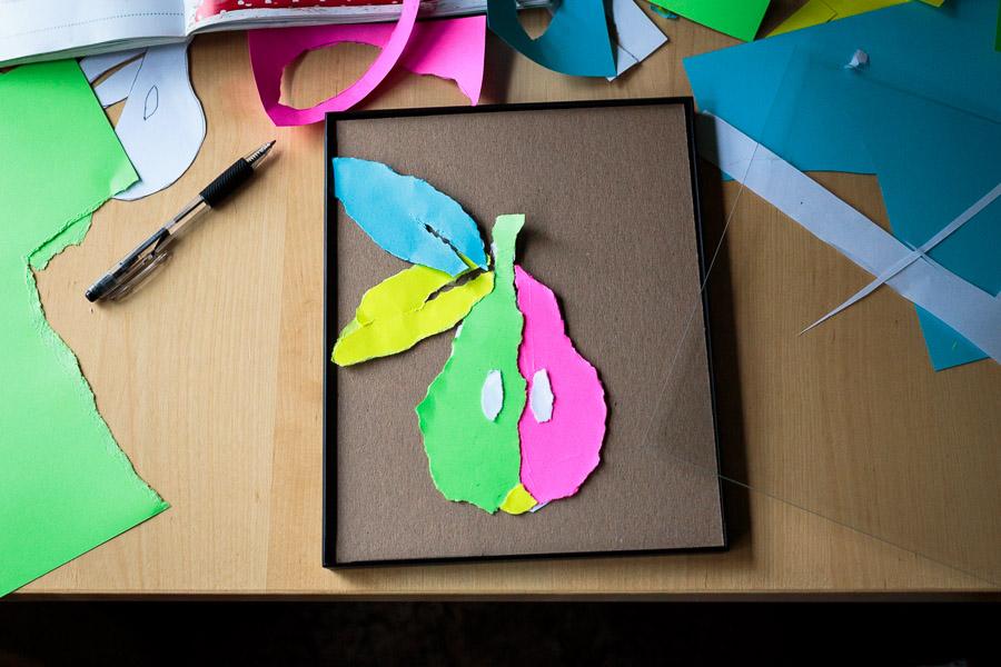 Torn Paper Pear