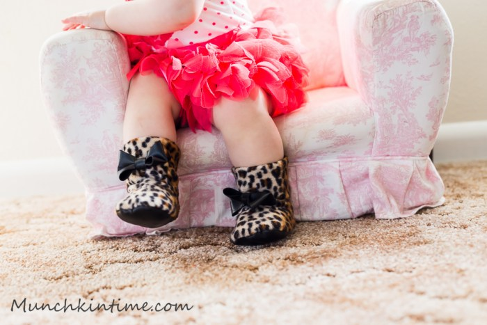 Baby Leopard Fur Boots