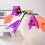Earth Day Craft for Kids – Egg Carton Tulip Flowers