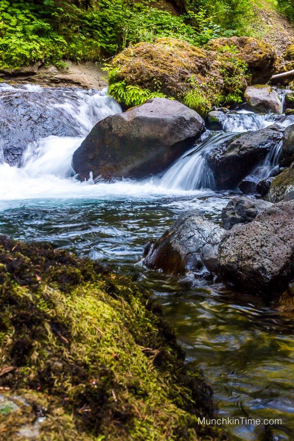 Hiking in Oregon Wahclella Falls Trail by Columbia Gorge #wahclellafalls #columbiagorge #hikinginoregon www.munchkintime.com