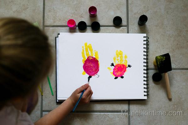 Girl Minions Handprint Art from www.munchkintime.com-8