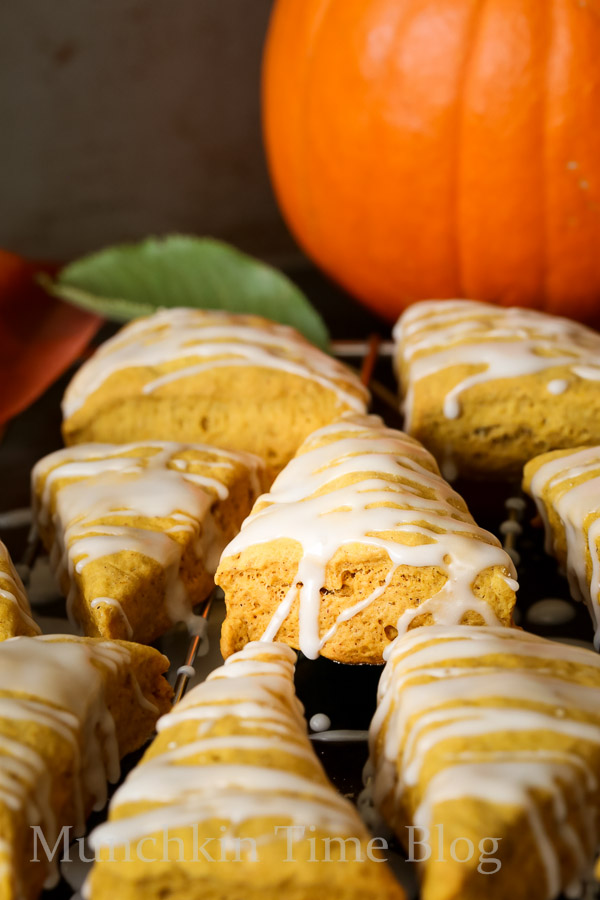 Super Easy Mini Pumpkin Scones Recipe --  www.munchkintime.com