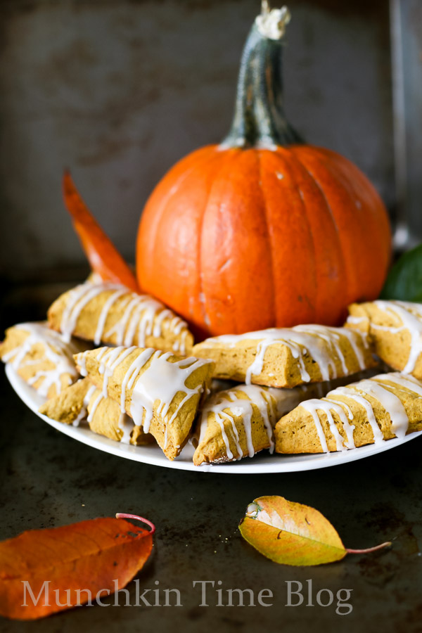 Mini Pumpkin Scones Recipe // www.munchkintime.com
