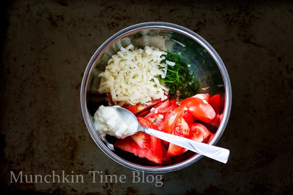 Tomato Salad with Greek Yogurt and Cheese