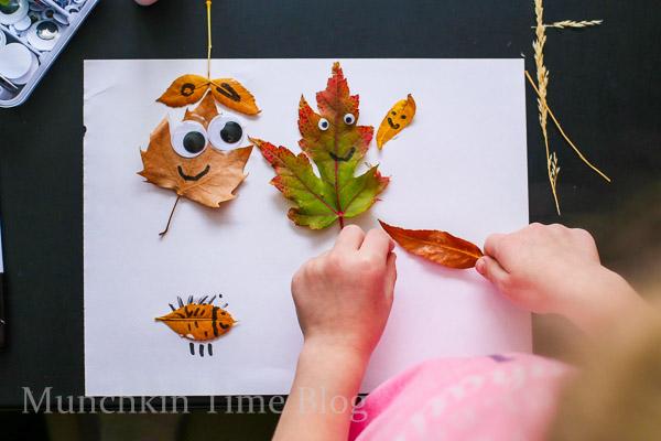 Super Cute Leaf Craft for Kids  --  www.munchkintime.com