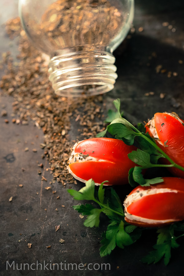 Tomato Tulips Easy Appetizer Recipe that even kids can make. - www.munchkintime.com-