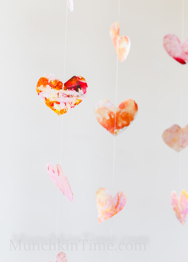 DIY Melted Heart Backdrop by Munchkintime-- - www.munchkintime.com #diy #decor