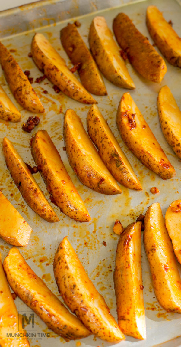 Potato Wedges Recipe (Video Inside) In a large mixing bowl combine ...