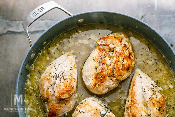 Easy Creamy Chicken Tarragon Recipe - Munchkintime.com
