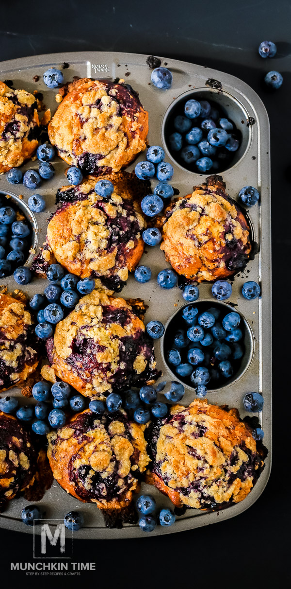 Best Blueberry Muffin Recipe - loaded with scrumptious summer blueberries.