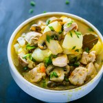 One Pot Meal – Zucchini Mushroom Chicken Stew Recipe