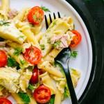 Tuna Spinach Artichoke Pasta Salad Recipe