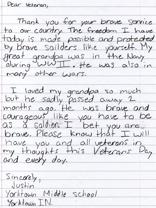 Letters To Veterans