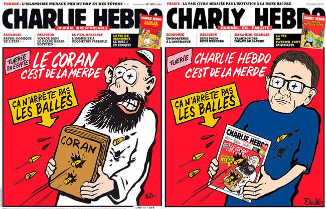 Charlie Hebdo se burló del Corán en 2013. La semana pasada un adolescente de 16 años terminó arrestado por parodiar esa misma portada.