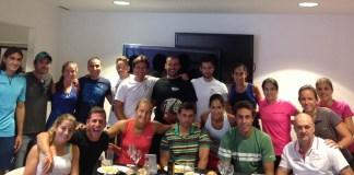Concentracion de los jugadores para el Mundial Padel 2014