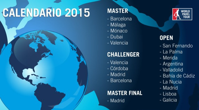 Calendario World Padel Tour 2015