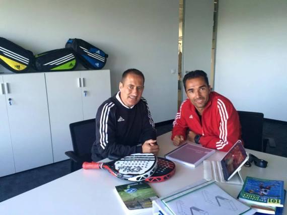 Alberto Fernández con Adidas Padel