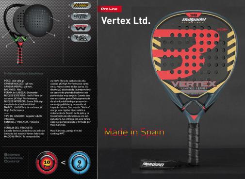 Pala Bullpadel Vertex Limited