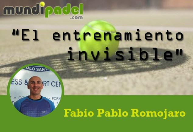 Fabio Pablo Romojaro entrenamiento invisible