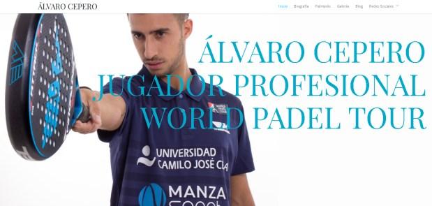 El jugador Álvaro Cepero estrena página web