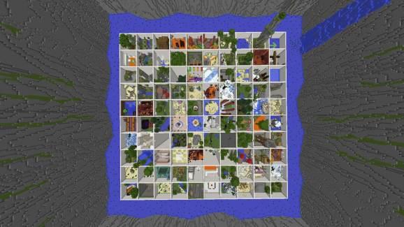 nuevo mapa de parkour mini salas de mundo-minecraft