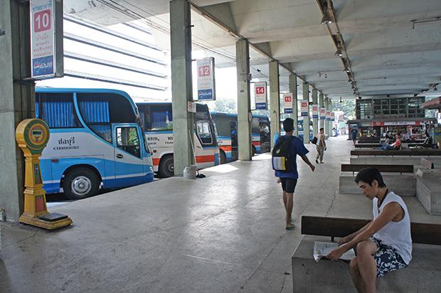 Estación de autobuses en Tailandia